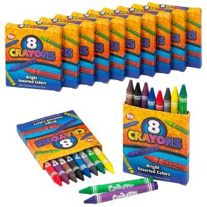 By Cra 1 Pack Each Crayola Crayon Set 96 Count With Sharpener Assorted Colors